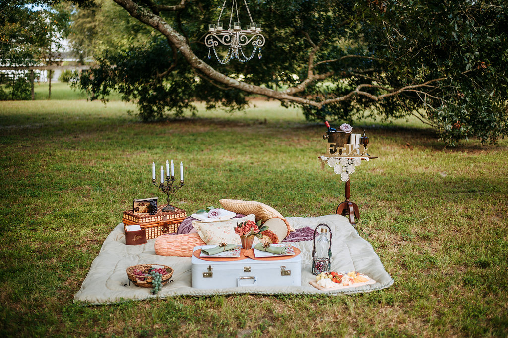 Picnic - under The Oaks canopy - Crystal Elegance